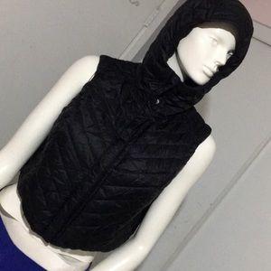 Lululemon Athletica black hooded vest